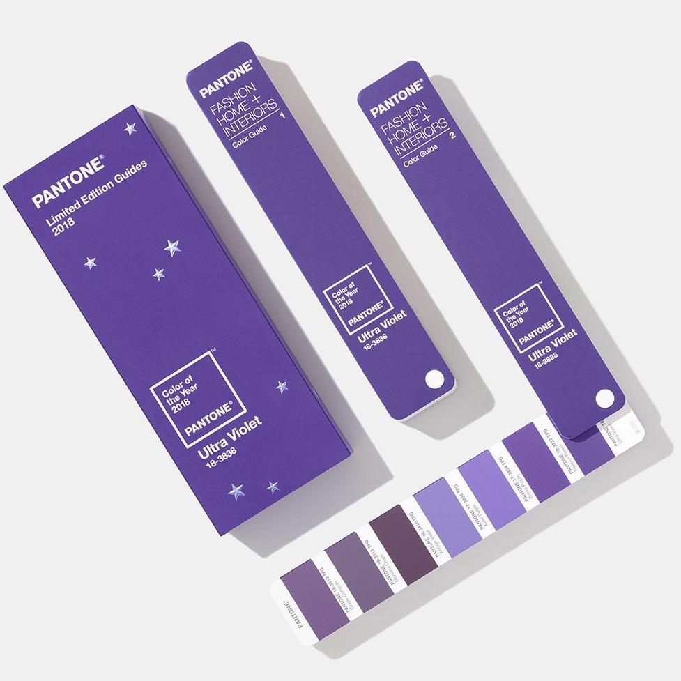 Pantone 2018年度代表色 Uitra Violet 紫外光色限量版 纺织色彩指南 Tpg色卡
